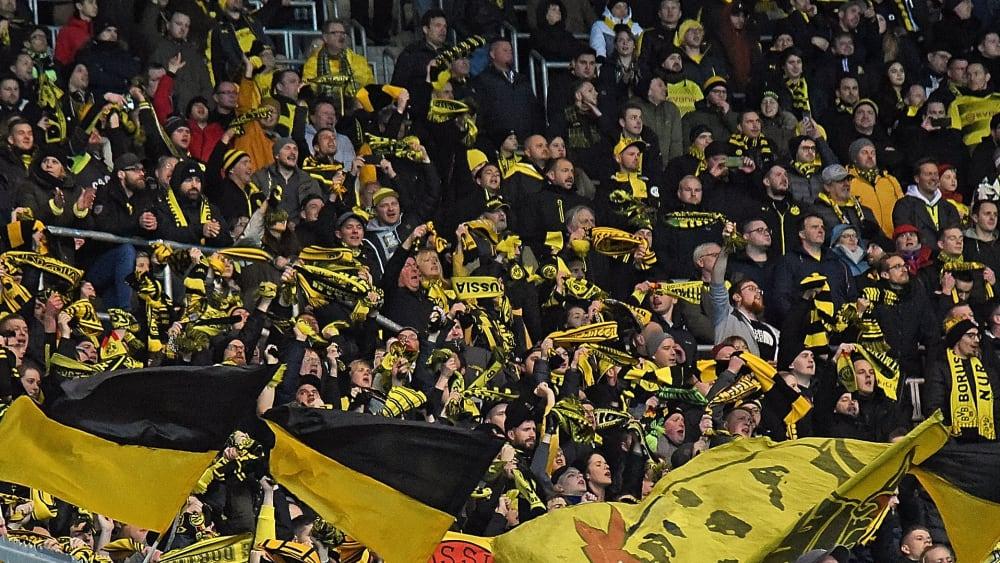 Dortmunder Fans im Gästeblock