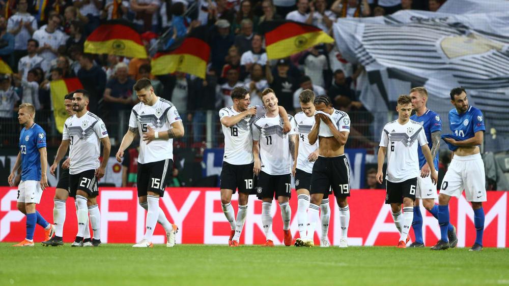 Die DFB-Auswahl feiert gegen Estland ein Fußballfest.