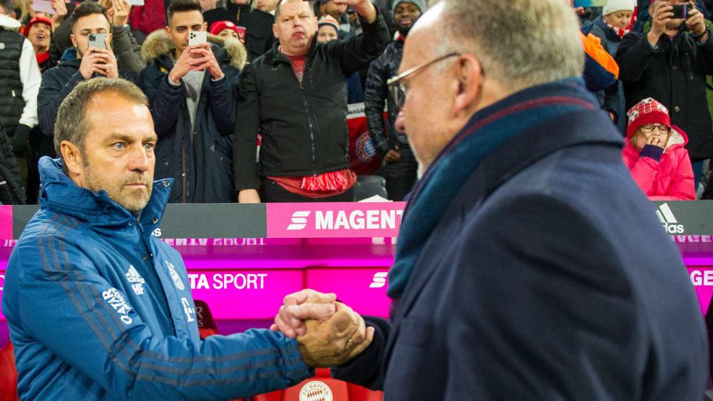 Hansi Flick und Karl-Heinz Rummenigge