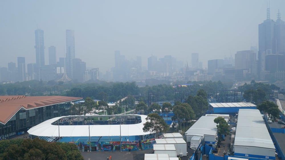 Rauch über Melbourne