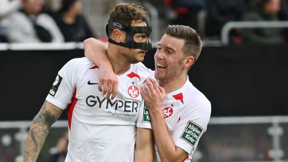 Timmy Thiele (li.) und Christian Kühlwetter vom 1. FC Kaiserslautern